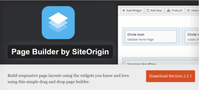 site origion page builder
